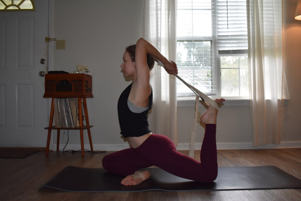 King pigeon pose yoga