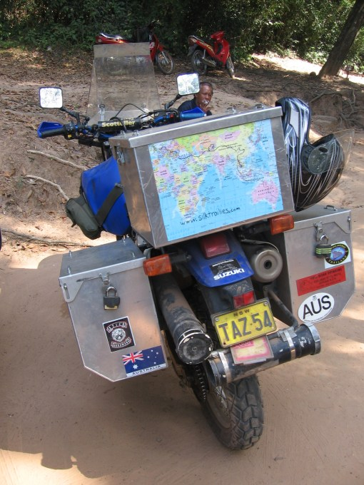some guy's round the world journey on his bike