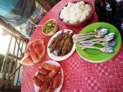 Lunch at Palaui Homestay