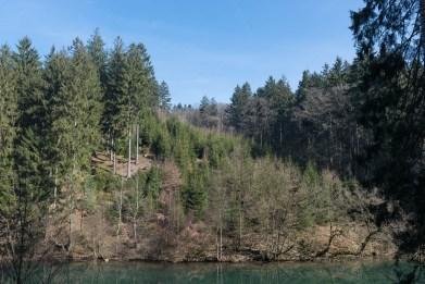 Ufer des oberen Sees