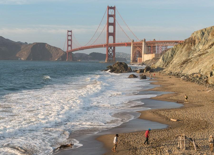 Golden Gate Brücke von Marshall's Beach