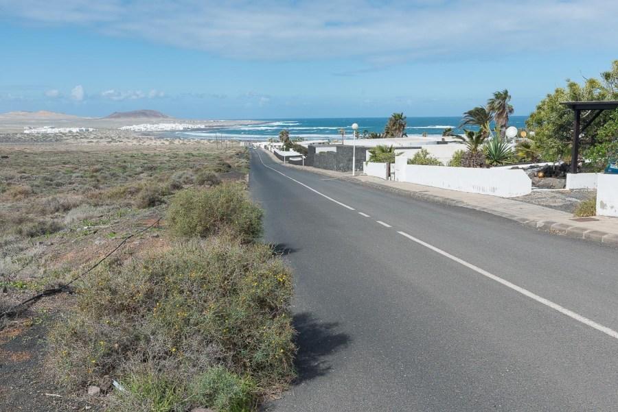 Auf dieser Strasse ging es vom Strand aus rauf.