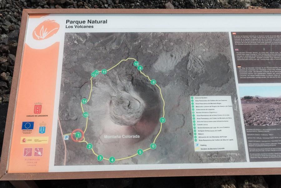 Karte der Wanderung