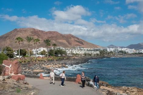 Ortsende von Playa Blanca