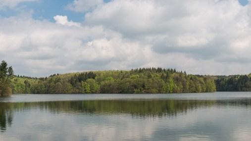 Ausblick über den gestauten See
