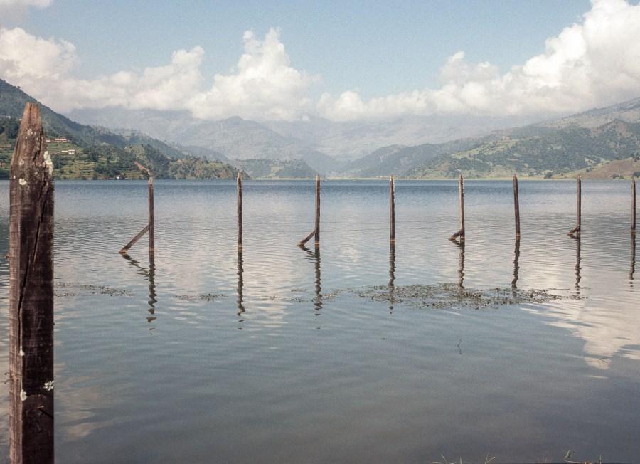 Lake Pokhara auf einer Fahrradtour