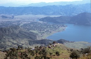 Lake Pokhara von oben