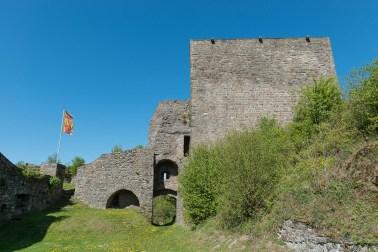 Burg mit Fahne