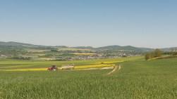 Auf den Feldern wurde gearbeitet