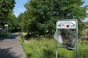 Papierkorb für Radfahrer