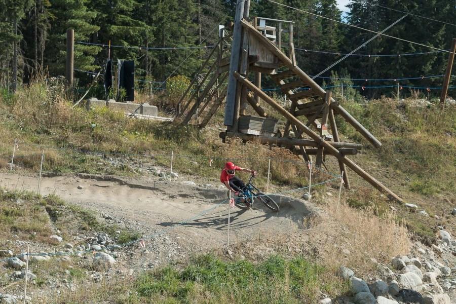 BMX-Fahrer in Whistler