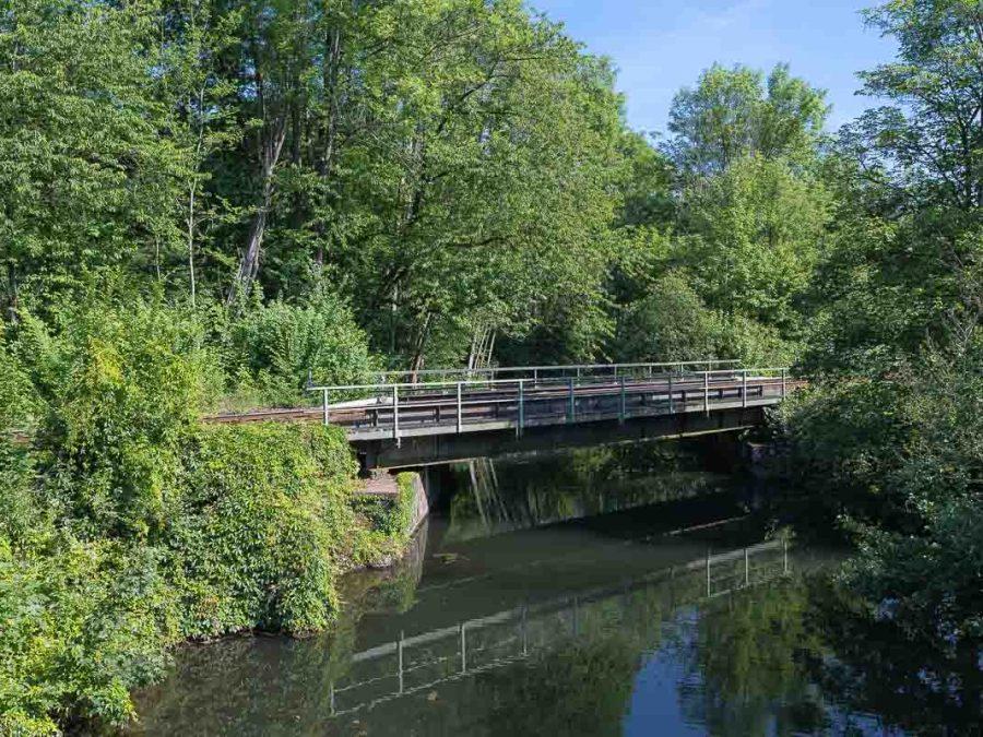 Eisenbahnbrücke über die Agger