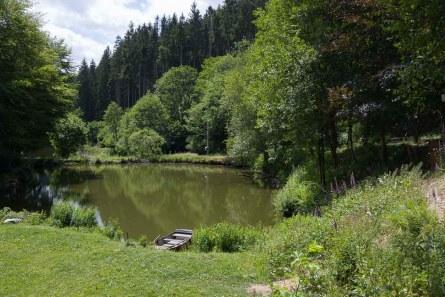 Teich an der Mühle von Bayehon