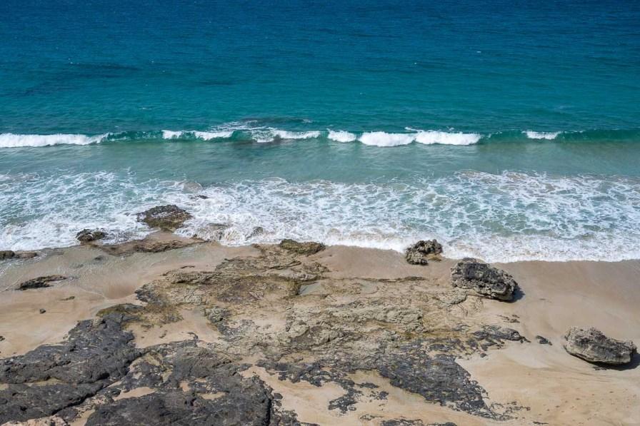 Blick vom Hochplateau auf das Meer