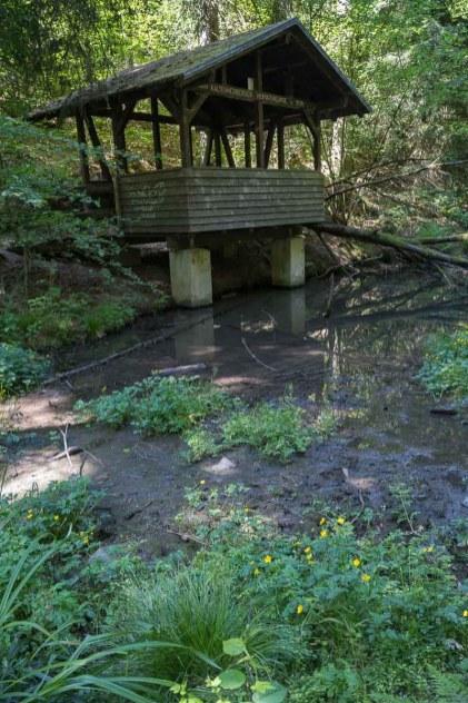 1938 wurde diese Schutzhütte schon gebaut