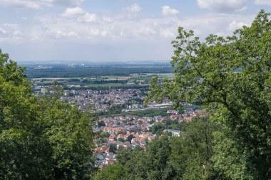 Blick auf Bensheim