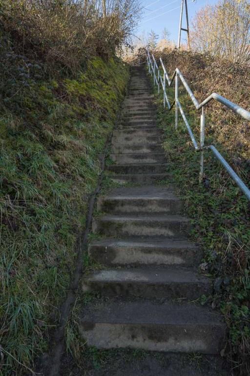 Treppenstufen beim Aufstieg