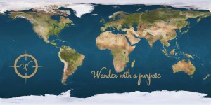 Wanderonomy Earth Map - Wander with a purpose