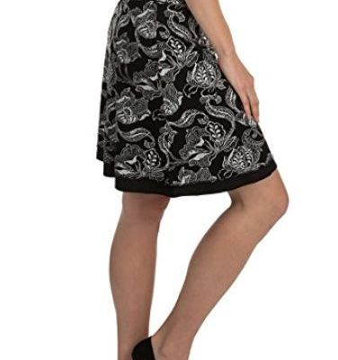 """Colorado Clothing Tranquility 21"""" Print / Solid Reversible Skirt"""