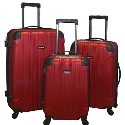 Kenneth Cole Reaction Out Of Bounds Lightweight 3-PC Hardside Spinner Luggage Set Red (Red)