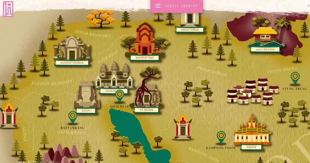 Inside Asia Tours Cambodia Map