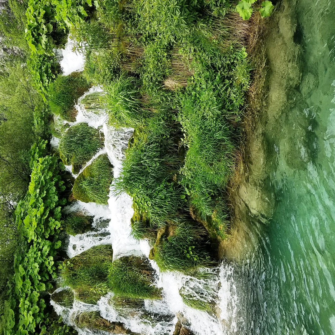 A cascade in Plitvice Lakes National Park, Croatia