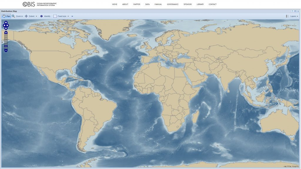 UNESCO Ocean Biogeographic Information System Map