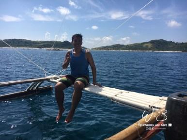 Enjoying the Boatride