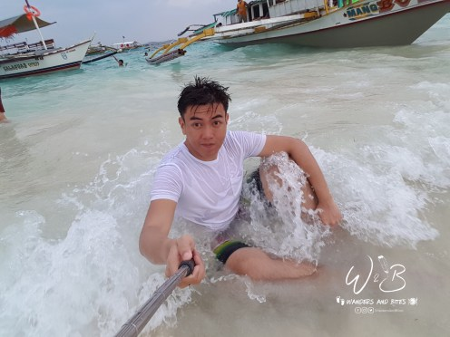 Shot with the waves