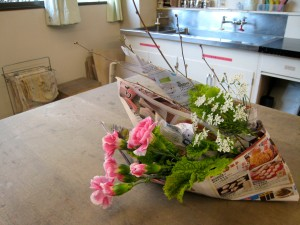 Flowers in a Paper Boat