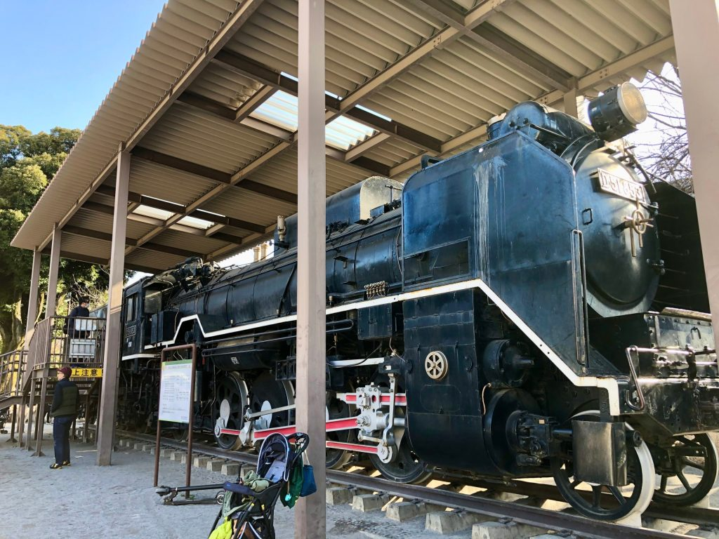 steam locomotive at Oji City