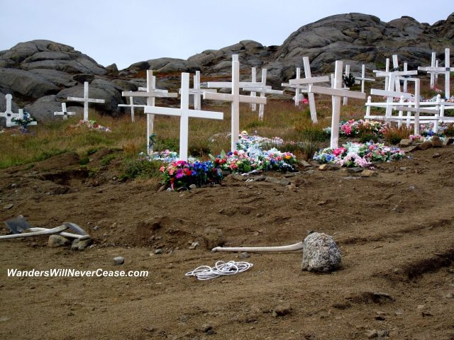 Cemetery in Kulusuk,Greenland