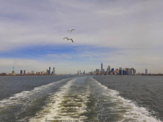 New York Skyline Statue of Liberty Staten Island Ferry