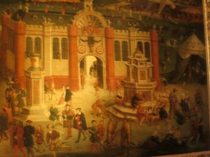 Painting of Hampton Court Palace done during Henry VIII's time.