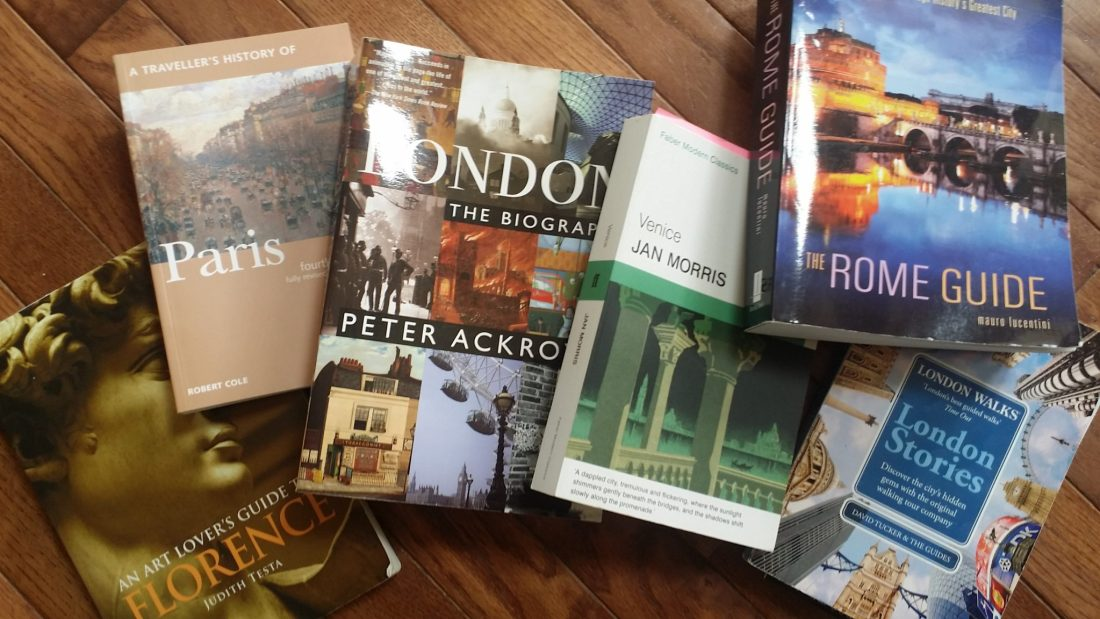 An Art Lover's Guide to Florence, The Rome Guide, Venice, London the Biography, London Stories, A Traveller's History of Paris, Comparison of Guide Books, in depth travel books