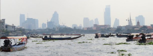 More traffic on Bangkok's Chao Phaya.  Water Taxi