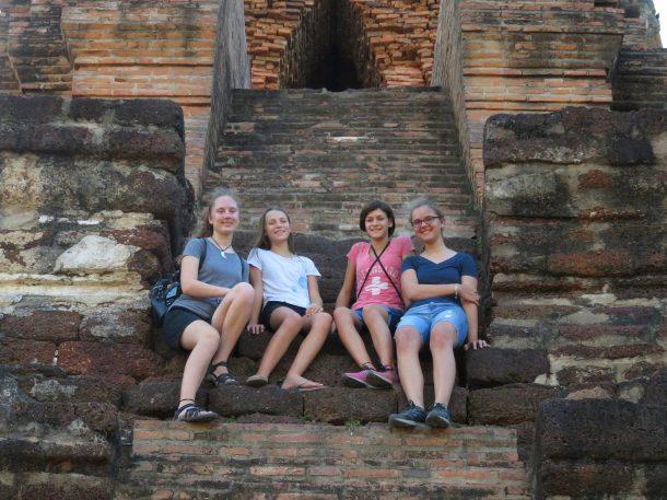 Ayutthaya Thailand Bangkok day trip travel with kids