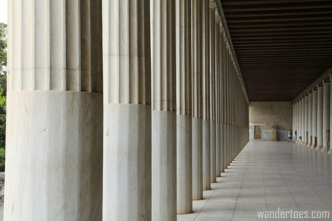 Stoa of Attalos in Ancient Agora of Athens