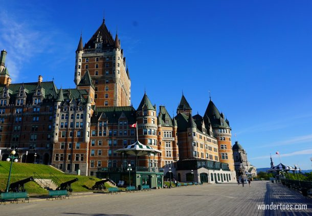 Terrasse Dufferin Chateau Frontenac Quebec City Canada solo female travel solo mom travel