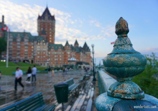 Terasse Duffering Chateau Frontenac Quebec City Canada solo female travel solo mom travel