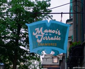Sign Manoir de la Terrasse Quebec City Canada Review