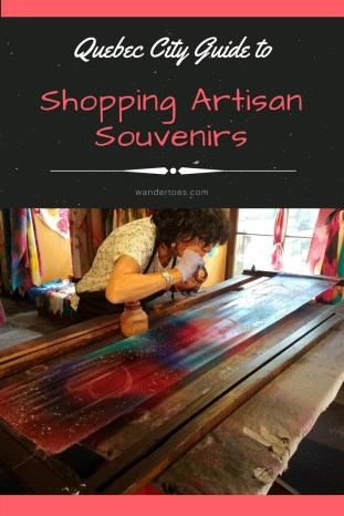 Quebec City guide to shopping for artisan souvenirs: information, photos & locations for shops that provide unique souvenirs made in Quebec and Canada.