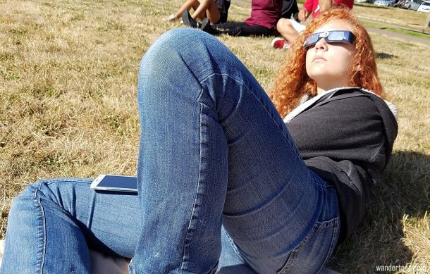 Lydia looking so cool while she lounges. Eclipse 2017 totality photos