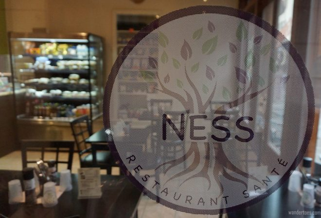View into NESS Vegan Bistro. Foodie Travel, St. Roch, Quebec City
