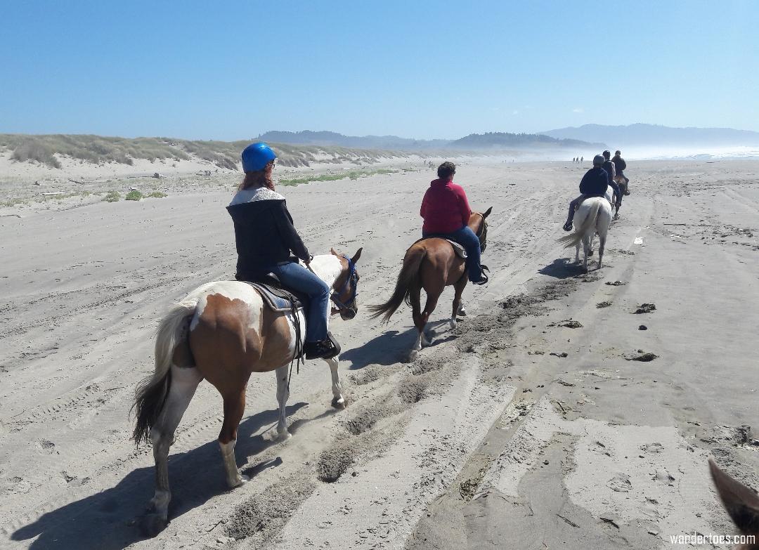 Oregon Horseback Ride Beach