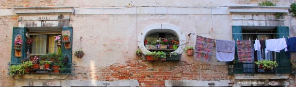 Flowered Three Windows Venice