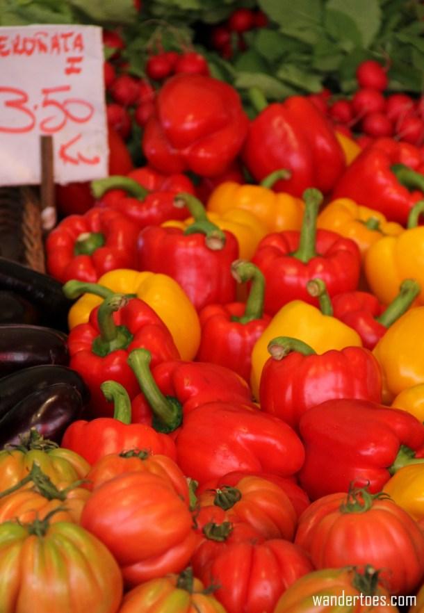 Rialto Food Market in Venice Italy