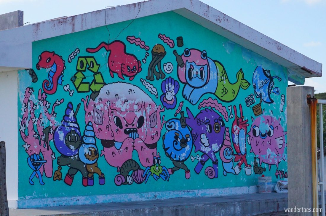 Isla Mujeres Street Art & Murals  Sea Walls Artists for Oceans