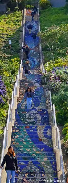 San Francisco Tile Stairs   Stair Murals   Stair Mural   Moraga Street Tile Stairs