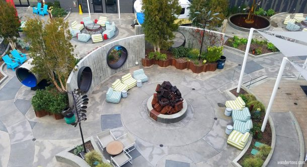 Hotel Zephyr San Francisco, USA | Instagrammable Hotel San Francisco | Courtyard